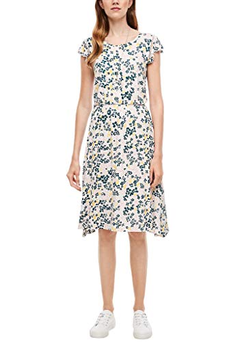 s.Oliver RED Label Damen Jerseykleid mit Allover-Print Cream AOP Flowers 32