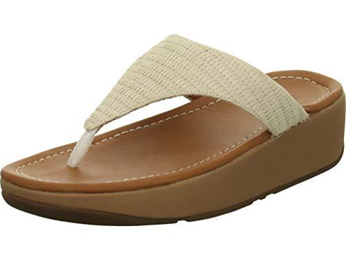 FitFlop? Imogen Basket Weave Toe-Thongs Raffia Stone - Maat 42