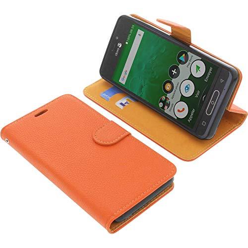 foto-kontor Tasche für Doro 8035 Book Style orange Schutz Hülle Buch