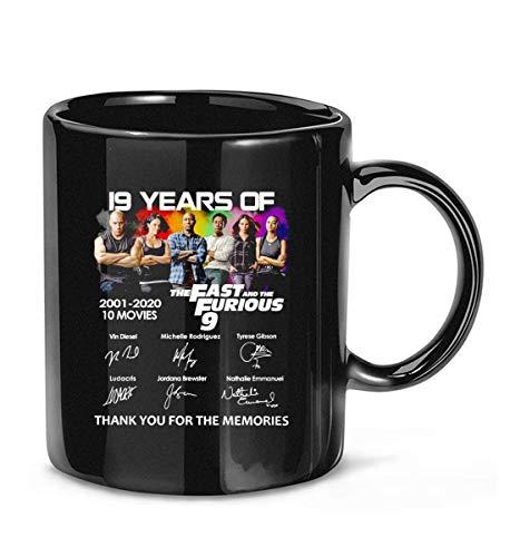 AOOEDM The #Fast #Furious 9 2001-2020 elenco firmado divertido taza de café tazas de té
