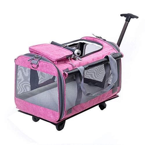 WWJHH-Pet trolley bag Bolsa de Transporte para Mascotas, de Lino, para otoño...
