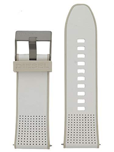 Diesel Correa de reloj intercambiable LB-DZ7419 de caucho, 28 mm, color blanco y beige