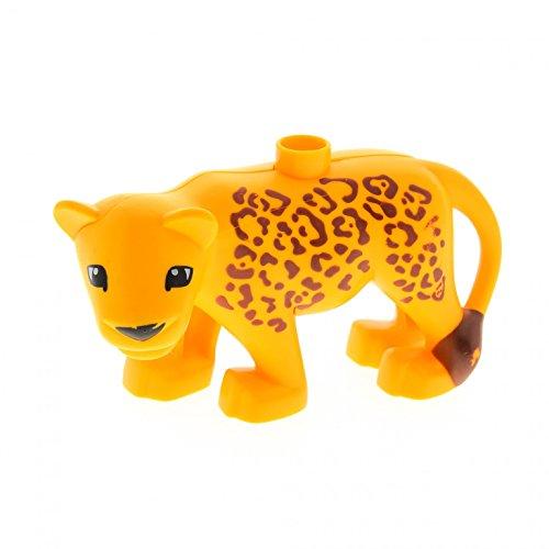 Bausteine gebraucht 000 1 x Lego Duplo Tier Leopardin gelb orange Leopard Gepard mit Muster Löwe Zoo Safari groß Katze 6156 8435pb01