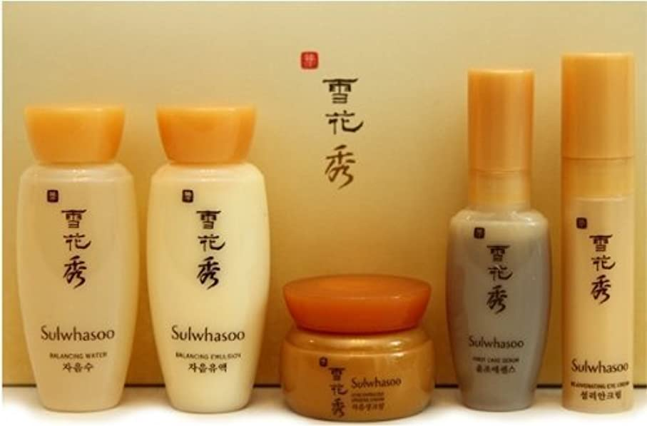 顕著非常にオーロック[Sulwhasoo] Basic Kit 5 Items(Water/Emulsion/Serum/Ginseng Cream/Eye Cream)/トラベルミニサイズキットセット - スキン、エマルジョン、セラム、クリーム、アイクリーム [並行輸入品]