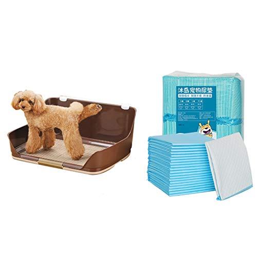 LT Hundetoiletten-Ineinander greifen-Haustier-Abfall-Behälter-Trainings-Auflage-hoher Zaun mit Windel (100pcs)