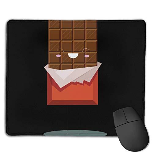Tragbare Gaming Mouse Pad Schokolade Sagen Sie Hallo Komfortable rutschfeste Basis Langlebige genähte Kanten für Laptop-Computer