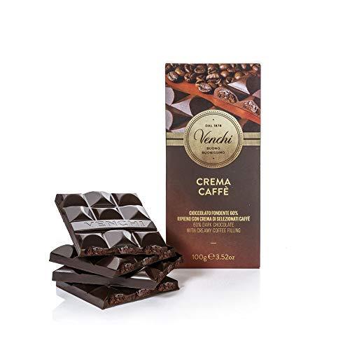 Venchi Tafel Zartbitterschokolade 60% gefüllt mit Kaffee 100g