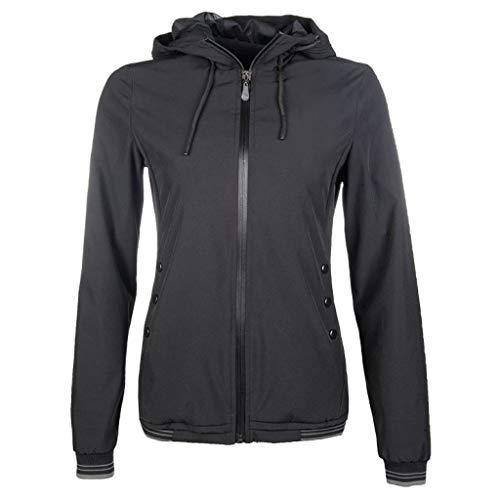HKM Damen Jacke-9798 Jacke, schwarz, M