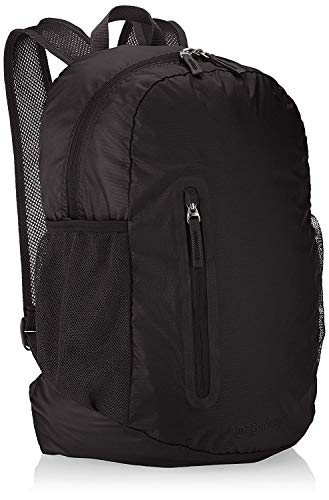 Amazon Basics Lightweight Packable Hiking Travel Day Pack Backpack - 19 x 8 x 13 Inches, 35 Liter, Black