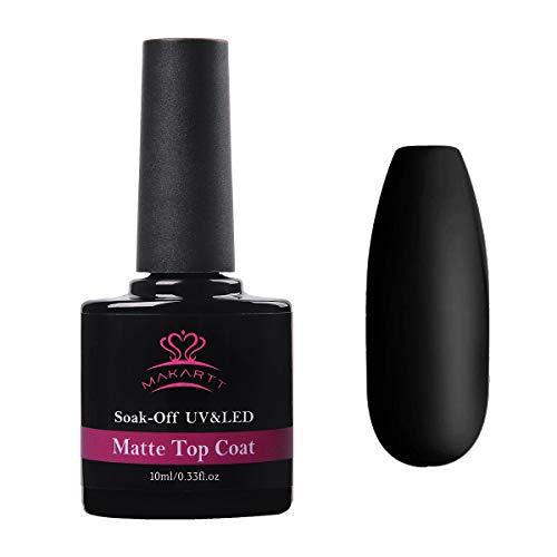 Makartt Matte Top Coat, Nagellack UV LED Gellack Matte Finish und langer Lebensdauer