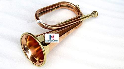 Civil War Era Solid Copper Bugle US Military Cavalry Horn