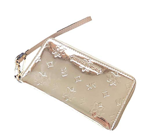 Jet Set Large Gold Metallic Phone Case Wristlet Wallet