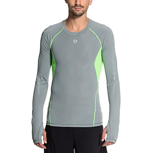 Gregster Herren Kompressions-Shirts Codie, Grau, L, 12521-037
