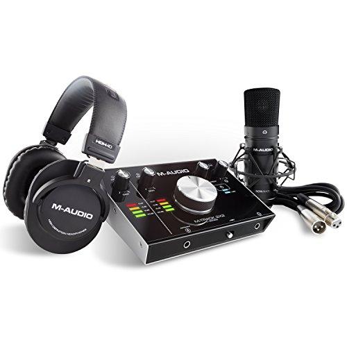 M-Audio M-Track 2X2 Vocal Studio Pro - Pacchetto Completo per Registrazione e Produzione con Interfaccia Audio USB 24 Bit/192Khz, Microfono, Cuffie, Cavo XLR e Pacchetto Software