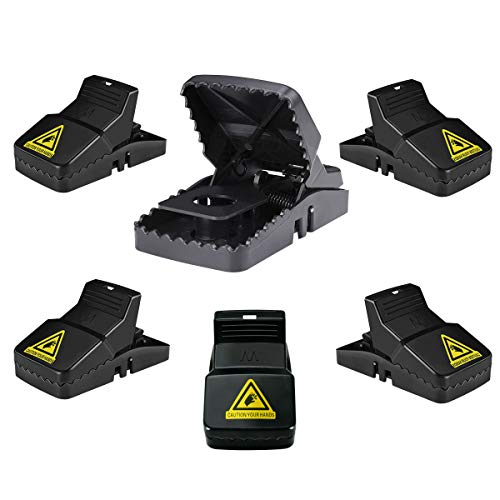 Mouse/Rats trap, Mice Traps That Work, Humane Power Rodent Killer and Mice Snap Kill Trap, Safe, Reusable, Effective Mouse Catcher for Home-6 Pack