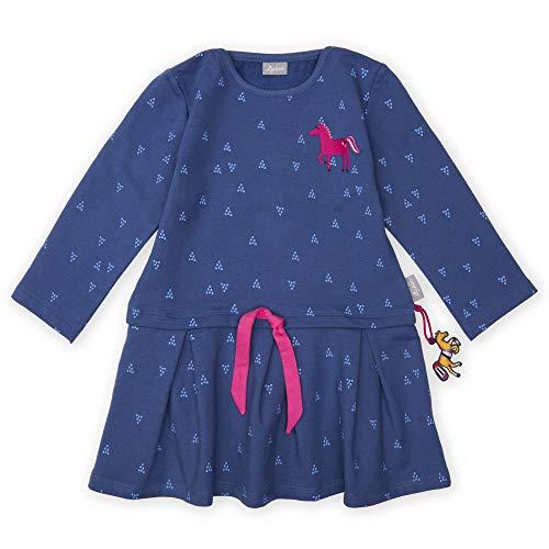 Sigikid Mädchen Langarm Kleid, (Blau 758), (Herstellergröße: 110)