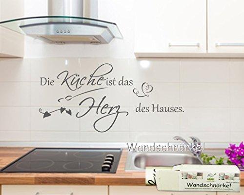 Wandtattoo Küche**Die Küche ist das Herz des Hauses Wandspruch Wandsticker (60cm x 30 cm)