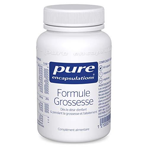 Pure Encapsulations - Formule Grossesse - Vitamines, Minéraux & Nutriments pour les Femmes - Dès le Désir d'Enfant & pendant la Grossesse & l'Allaitement - 60 Gélules Végétales