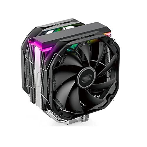Centilador Cpu CPU Air Enfriador Superior Sincronización con luces ARGB Ventilador de enfriamiento CPU con 5 CPU Tubos de disipador de calor Doble Fan140mm Silent PWM Ventilador Sistema Refrigeración