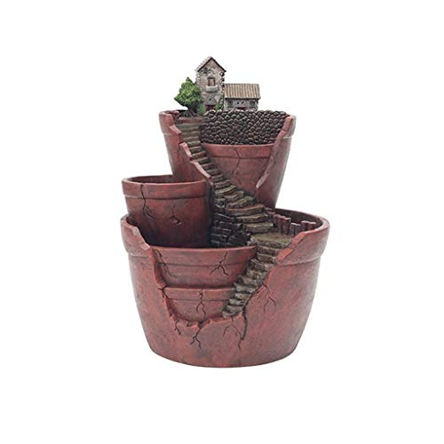 Vasi tradizionali Creativo resina piante in vaso con giardino nel cielo succulente Piante Holder Planter Vaso di fiori in vaso Desktop casa decorazione del giardino Piante Holder Vasi e accessori per