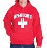 LIFEGUARD Officially Licensed First Quality Pullover Hoodie Sweatshirt Apparel Unisex for Men Women (Medium) Red by