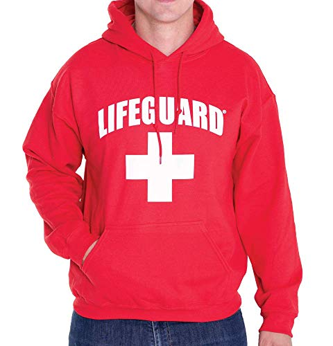 LIFEGUARD Officially Licensed First Quality Pullover Hoodie Sweatshirt Apparel Unisex for Men Women (Small) Red