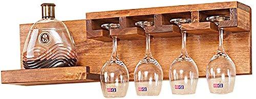 Estante del vino Montado en la pared de madera estante del vino bar Living Room Cafe decoración de la pared recibir información de precios de dos estilos puede elegir Estantería de vino ( Size : A )