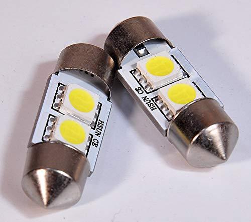 Festoon, LED-Leuchtmittel für Sprechanlagen, 24 V, 2 x 31 mm, 6400 K, geeignet für Wohnmobile, Busse, Fahrstühle