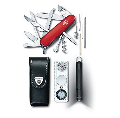 Victorinox Traveller Set Couteau de Poche Suisse, Léger, Multitool, 26 Fonctions, Boussole, Tire Bouchon, Lampe de Poche
