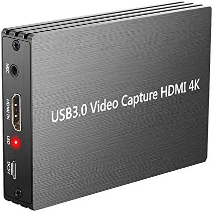 Zongxinkeji HDMI HD Video Capture Card Device USB 3.0 (Color : Grey)