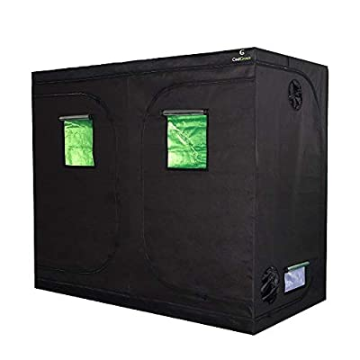 """CoolGrows Grow Tent, 96""""x48""""x80""""Mylar Hydroponic Grow Room with Observation Window and Removable Floor Tray for Indoor Gardening Plant Growing 8x4 Feet (96""""x48""""x80"""")"""