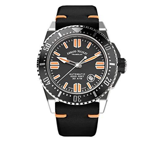 Orologio da Uomo Armand Nicolet Automatico JSS Nero da Sub Impermeabile 300M A480HNA-NR-P0480NO8