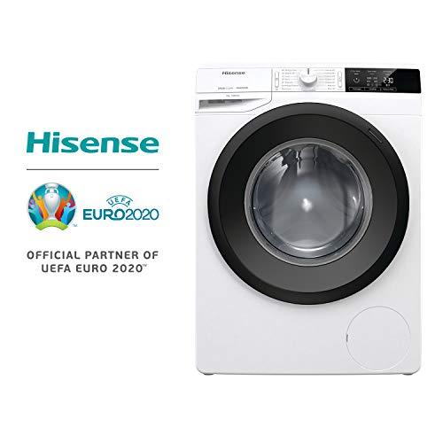 HISENSE WFGE7012V Waschmaschine mit Standfunktion, Kapazität 7 kg, Energieeffizienzklasse A+++ 1200 Umdrehungen, Maße (B x T x H): 60 x 54,5 x 85 cm