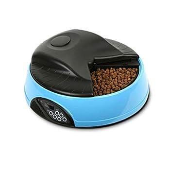 Chiens Gamelles et distributeurs Mangeoire automatique pour animaux Dispositif d'alimentation séparé Compartiment Plateau aliments Repas Bols Enregistrement aliments Évier synchronisation pour bols po
