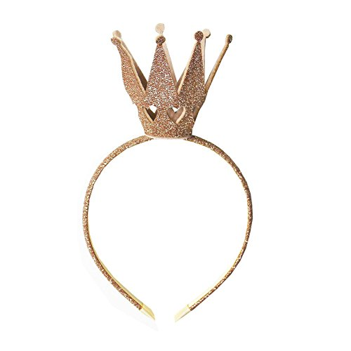Ever Fairy® Krone Prinzessin Mädchen Shiny Crown Haarband Prinzessin Mädchen Krone Stirnband Hochzeit (Gold)