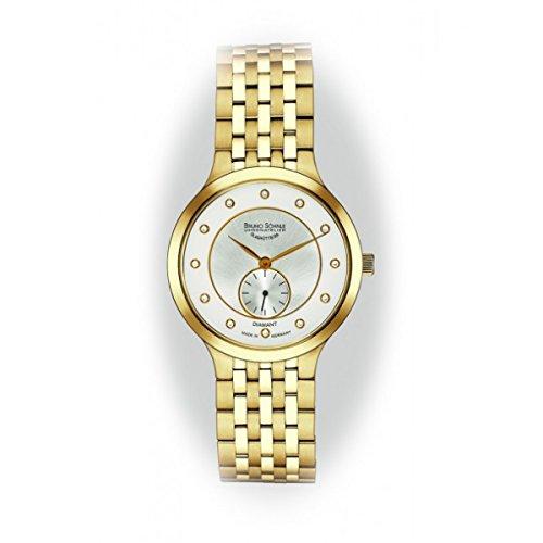 Bruno Söhnle Damen Analog Quarz Uhr mit Edelstahl beschichtet Armband 17-33136-252
