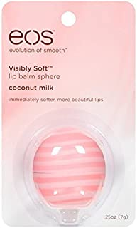 eos Visibly Soft Lip Balm Sphere, Coconut Milk, 0.25 oz - Buy Packs and SAVE (Pack of 4)