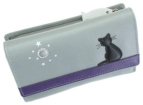 Mala 3495_35 - Borsa in pelle collezione Midnight in pelle con blocco RFID, Grigio (Grigio) - 3495_35