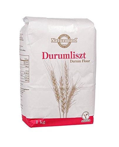 Naturmind Durum wheat flour, Hartweizenmehl 1000g für Nudeln, Pizza, Waffeln, Vegan Produkte