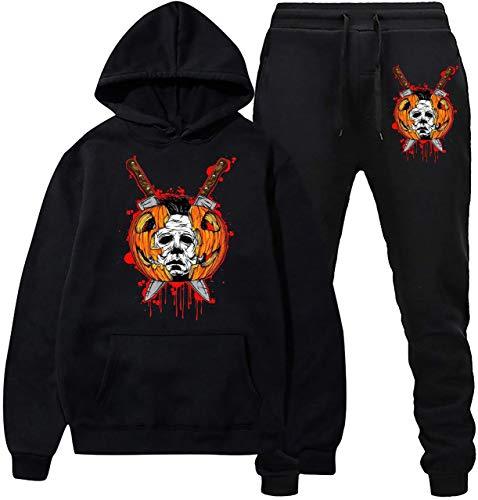 Halloween Michael M-yers Sudadera con capucha y pantalones de chándal Traje de...