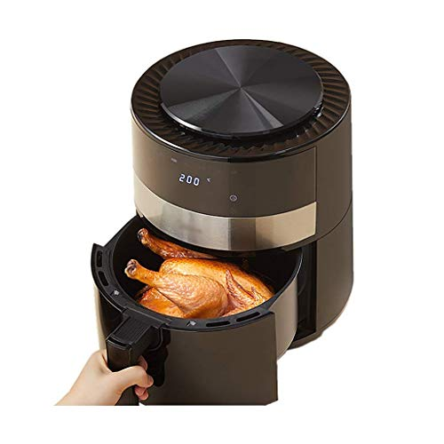PJPPJH Air Fryer with Rapid Air Circulation System Frying Technology, Timer and Adjustable Temperature Control for Healthy Oil Free or Low Fat Cooking