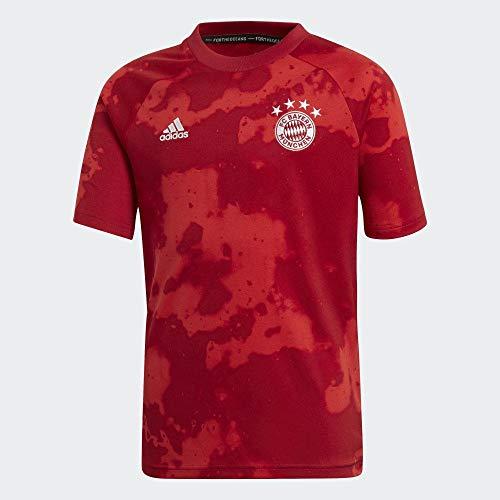 adidas Kinder FC Bayern Prematch Funktionsshirt rot 152