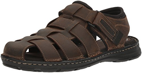 Rockport Men's Darwyn Fishermen Sandal, Brown Ii Leather, 10.5 M US