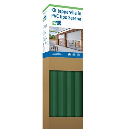 Rollplast PVCKTSEC1700123016001 rolluiken van PVC Serena, gewicht ca. 4,50 kg/m². Eenvoudig te monteren, zuinig en duurzaam. Kleur: fles.
