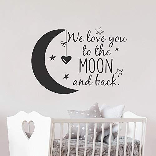 Vinilos decorativos de pared ideas de decoración de pared te amamos hasta la luna