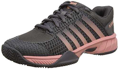 K-Swiss Performance Express Light HB, Zapatillas de Tenis para Mujer, Negro (Plum Kitten/Coral Almond 093-M), 39 EU
