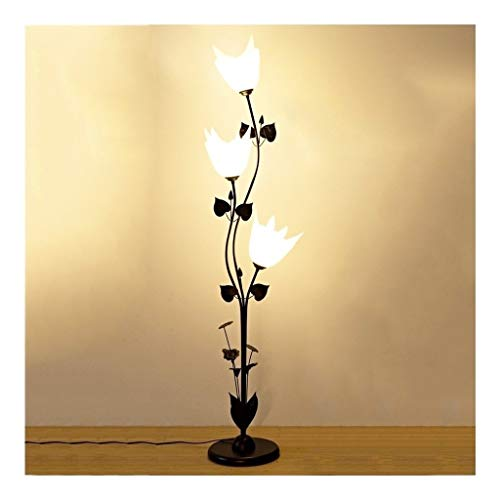 YLSH Staande lamp, duurzaam, modern, eenvoudige led-vloerlamp, verticale stijl, 3 kopen, acryl, staande lampenkap, slaapkamer, woonkamer, staande lamp