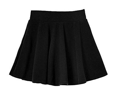 ARJOSA Women's Plain Stretchy Casual Flared A-Line Mini Skater Skirts