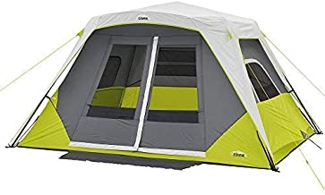 CORE 6 Person Instant Cabin Tent with Awning (Renewed)