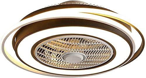 Lámpara de techo del ventilador LED Dimmable Tiempo de viento Ajustable Velocidad del viento Invisible Sala de estar Sala de estar Iluminación con control remoto 60W? 62cm